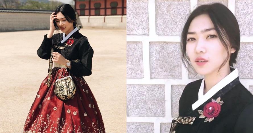 5 Potret Isyana Sarasvati saat pakai Hanbok, cantiknya bak putri raja