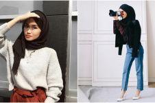 10 Gaya fashion hijaber simpel ala Firaa Assagaf si fotografer cantik