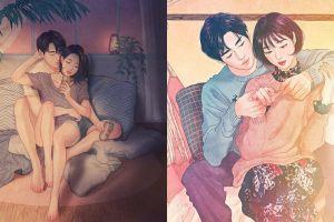 10 Ilustrasi intimnya sepasang suami-istri ini bikin jomblo gerah hati