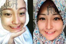Viral, mantan gadis punk yang kini berhijab dengan tato di kening