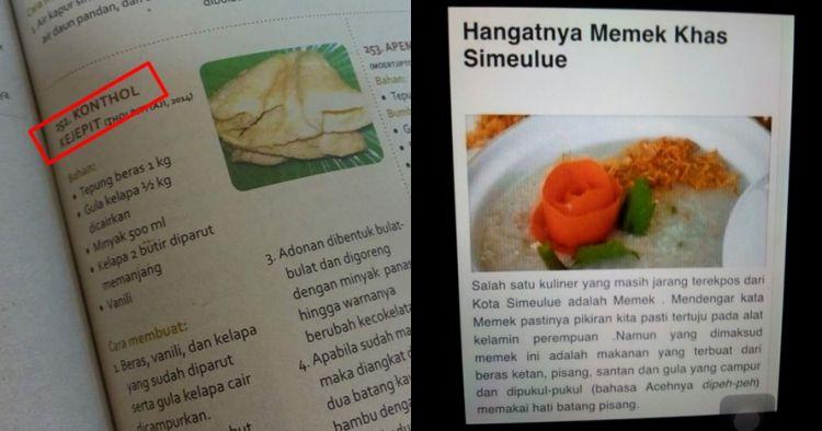 7 Nama makanan asli Indonesia ini lucu pol, bikin kamu ngeres seketika