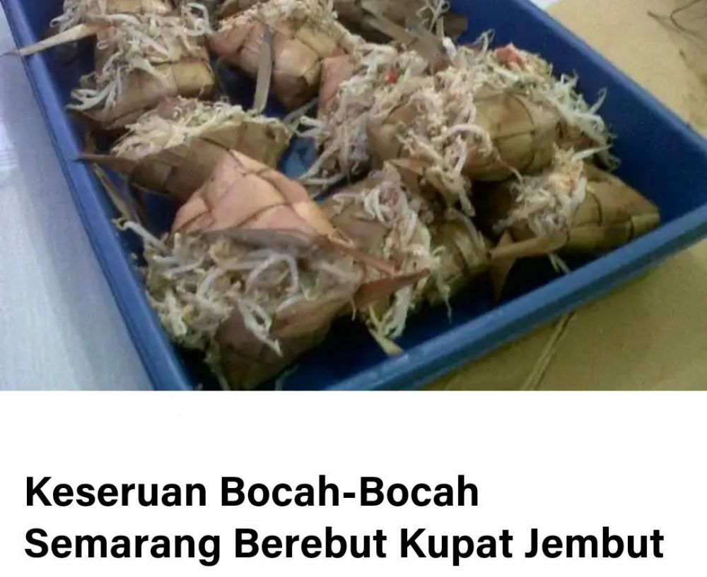 7 nama makanan asli indonesia bikin ngeres © Twitter