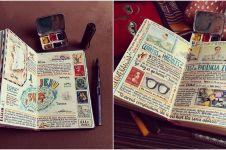 Hobi jalan-jalan, 10 coretan traveler di buku ini rapinya kebangetan