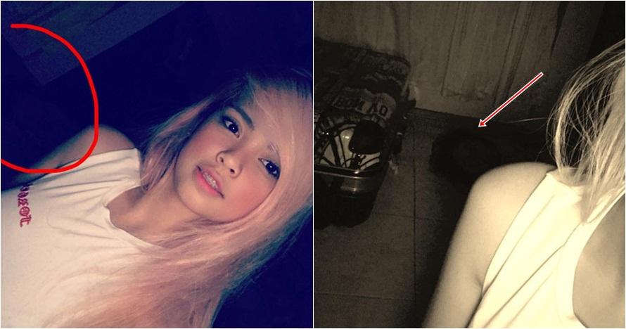 Foto selfie wanita ini ada yang aneh, penampakannya bikin merinding