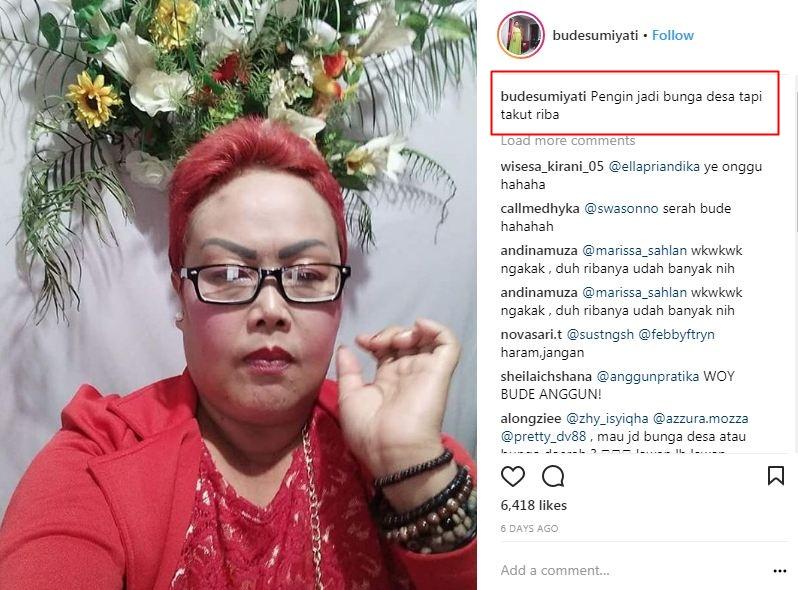 10 Caption Lucu Hanyalah Seorang Netizen Bude Sumiyati Bikin Ng