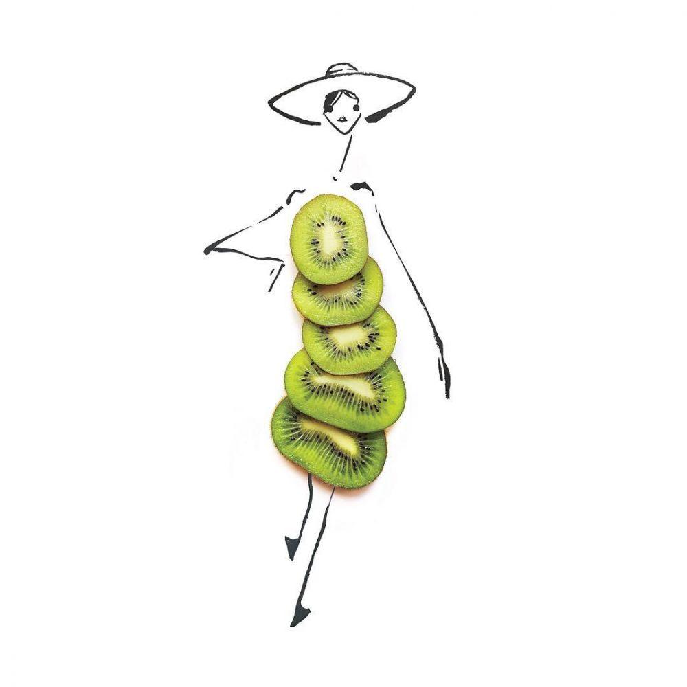 busana dari buah © 2018 Instagram