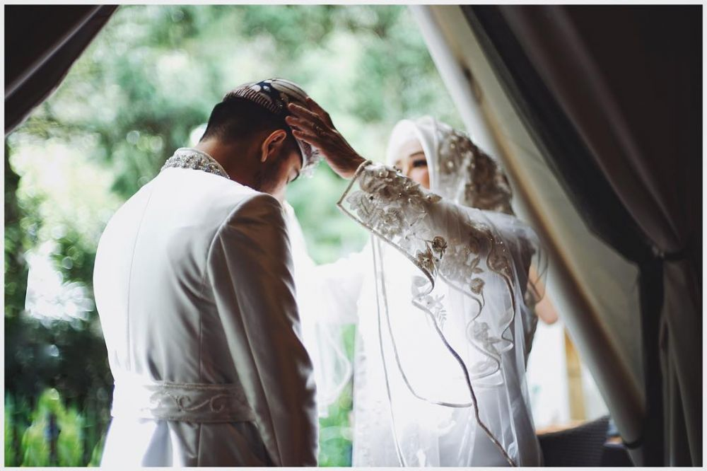 Momen nikahan Syahnaz dan Jeje  © 2018 brilio.net