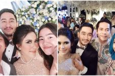 6 Momen kece selfie para seleb hadiri pernikahan Syahnaz & Jeje