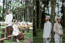 Berkonsep outdoor, 4 pasang seleb ini gelar pernikahan di hutan pinus
