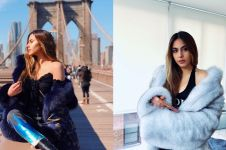 10 Gaya Valerie Thomas pakai mantel bulu, tetap seksi dan stylish