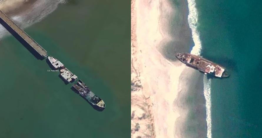 17 Kecelakaan kapal paling misterius yang terdeteksi di Google Earth