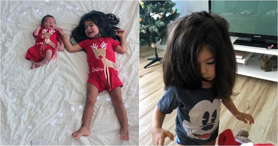 Memiliki rambut lebat dan indah, bocah ini dijuluki mini Rapunzel