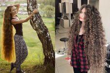 10 Pesona Dashik Gubanova, wanita cantik berambut panjang bak Rapunzel