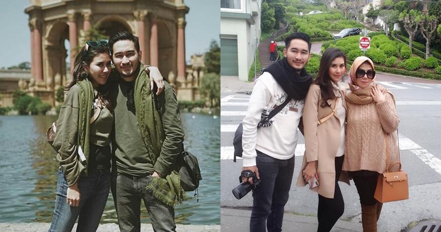 10 Potret seru honeymoon Syahnaz & Jeje di AS, ajak mama Amy lho