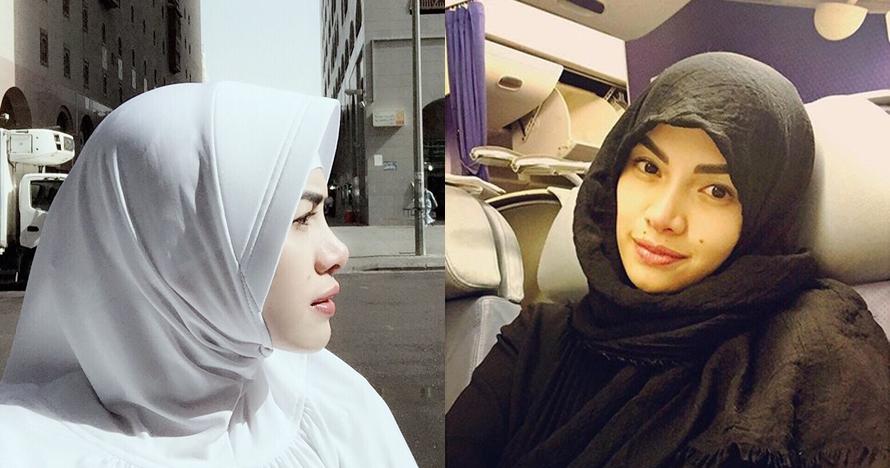 6 Pesona Nikita Mirzani dengan balutan hijab, cantiknya bikin pangling