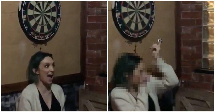 Detik-detik mata wanita tertancap anak panah dart ini ngeri parah