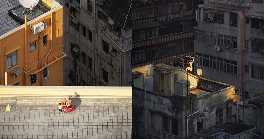 10 Aktivitas di rooftop ini tak diduga-duga, ada main mobil-mobilan