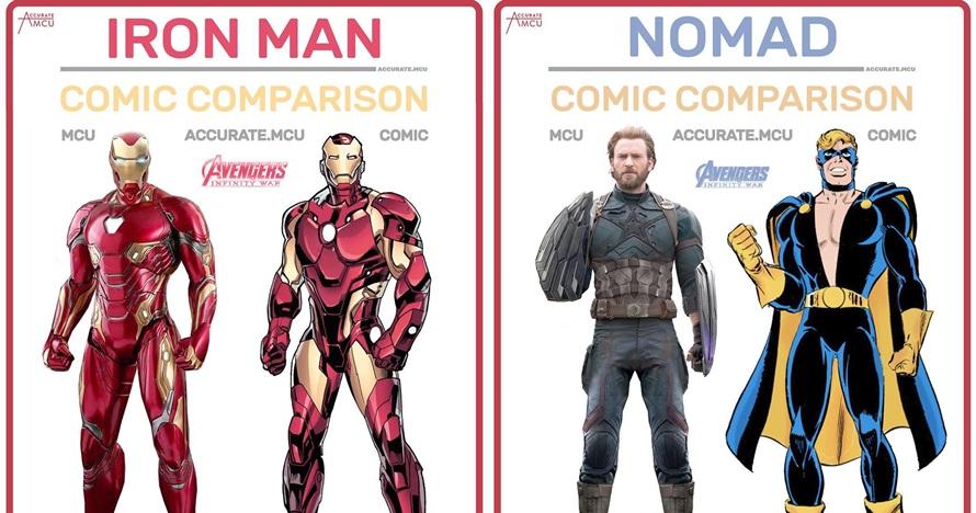 Beda gaya 10 tokoh Avengers di film dan komik, kerenan mana nih?
