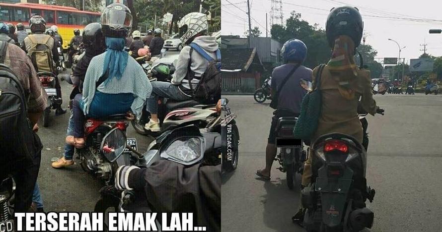 Lagi, gaya 10 orang Indonesia pakai helm ini bikin tepuk jidat