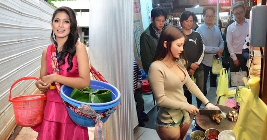 10 Penjual cantik ini pernah viral, bikin cowok-cowok rela antre