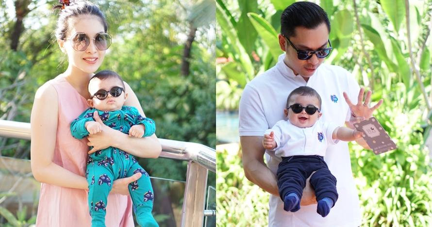 Bikin gemas, begini 9 gaya anak Sandra Dewi pakai kacamata hitam