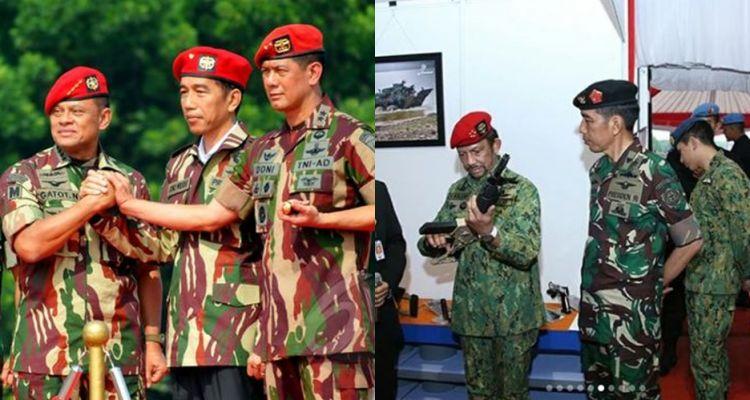 8 Gaya Jokowi sang panglima tertinggi TNI saat kenakan seragam militer
