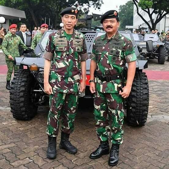 Jokowi seragam TNI berbagai sumber