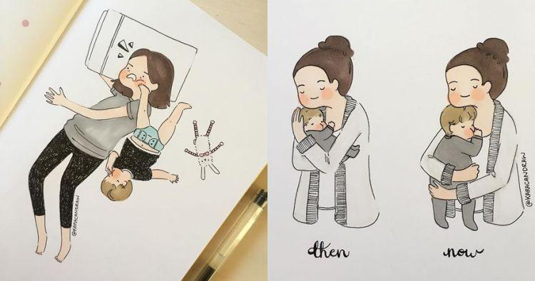 10 Ilustrasi suka duka jadi ibu muda, tak kenal lelah meski anak rewel