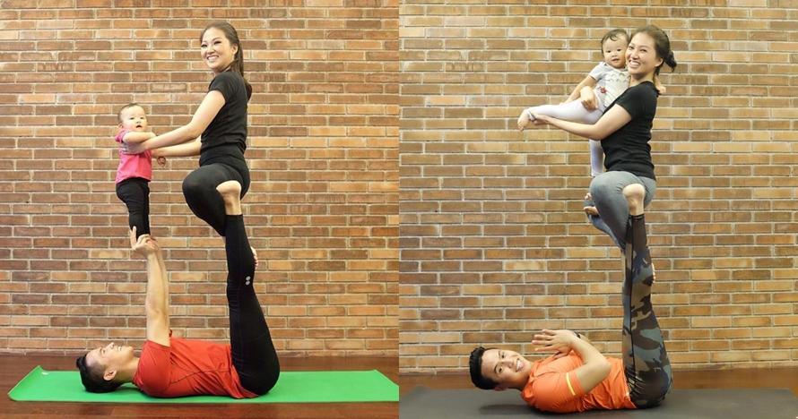 7 Momen kekompakan Sarwendah dan putrinya yoga bareng, gemesin banget