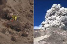 Merapi erupsi, ini video detik-detik para pendaki dilanda kepanikan