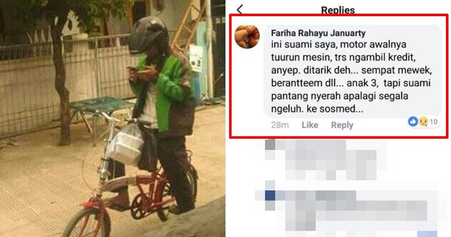 Kisah di balik driver ojek online kerja pakai sepeda ini bikin haru