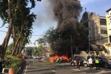 Begini suasana detik-detik saat & usai ledakan bom gereja di Surabaya