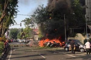 Ini pelaku bom bunuh diri gereja di Surabaya, bawa 2 balita