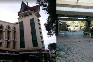 Penampakan kondisi 3 gereja di Surabaya yang menjadi lokasi teror bom