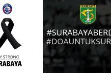 Turut berduka, ini dukungan 6 klub sepak bola ke korban bom Surabaya