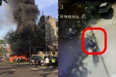 Aksi heroik 2 petugas keamanan gereja halangi pelaku bom di Surabaya
