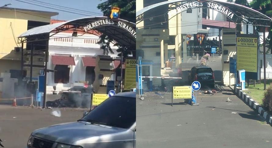 Bom meledak di Polrestabes Surabaya, polisi pastikan ada korban