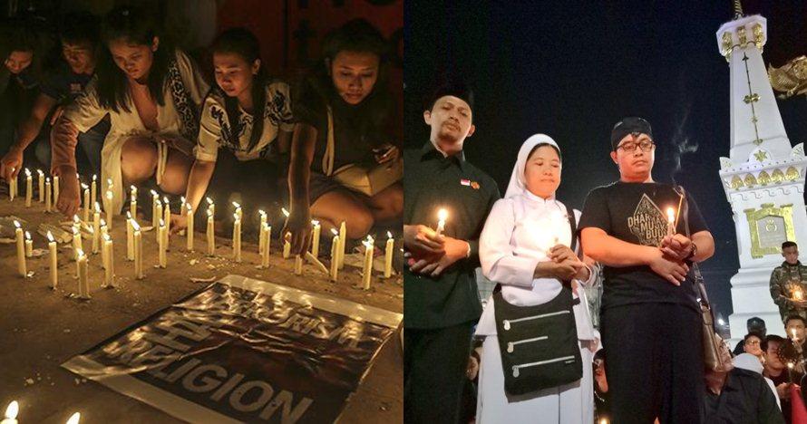 7 Potret haru aksi solidaritas bom Surabaya dari berbagai kota