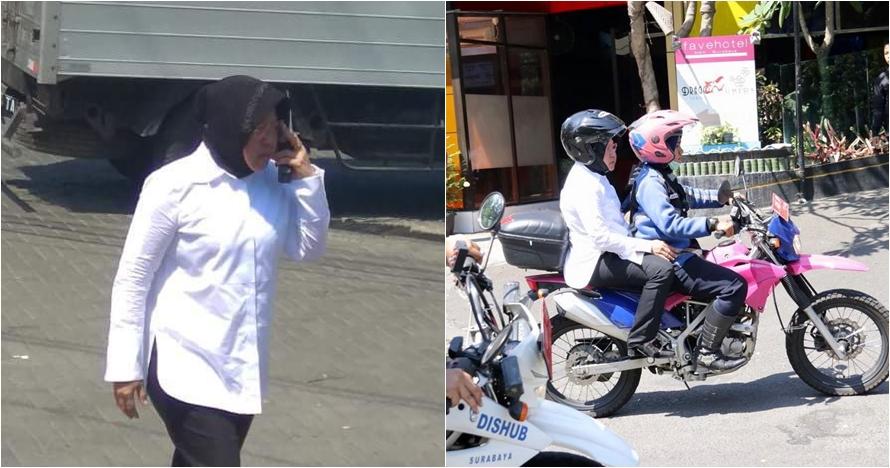 6 Aksi Wali Kota Risma patroli naik motor pantau keamanan usai teror