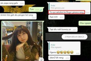 Kisah cowok PDKT cewek cantik lewat WhatsApp, endingnya ngenes