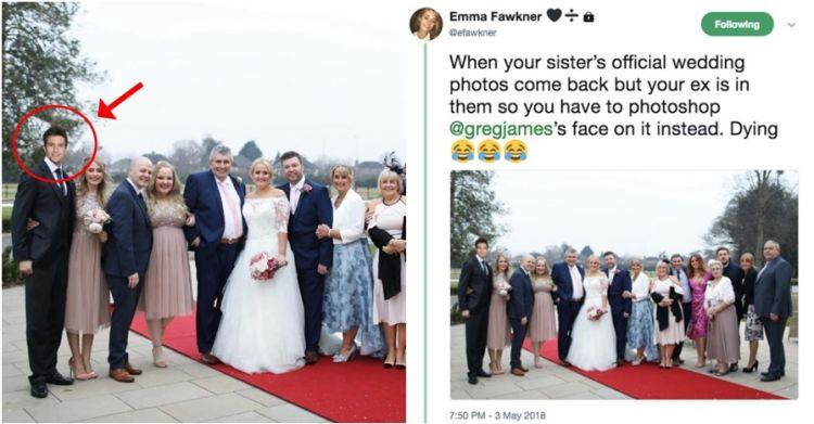 Tak mau satu frame sama mantan, editan foto wanita ini mengejutkan