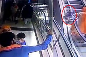 Ngeri, bocah ini tewas jatuh dari eskalator akibat ibunya sibuk selfie