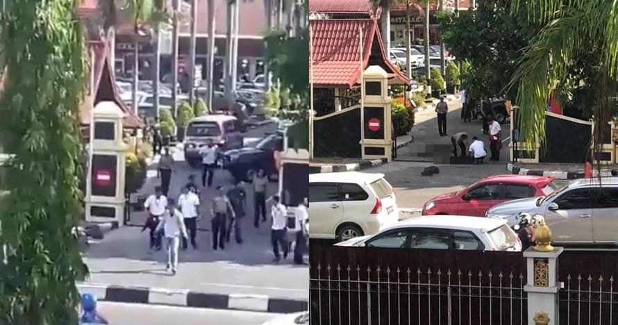 Ini 5 potret sesaat setelah kejadian penyerangan di Mapolda Riau