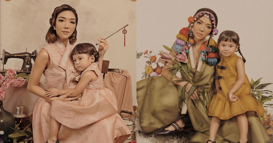 8 Gaya pemotretan vintage Gisella Anastasia dan Gempi, bak lukisan