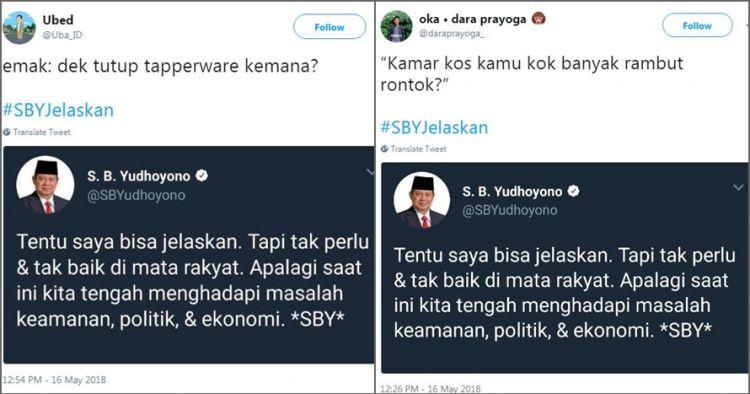 Kreatif abis, 12 cuitan #SBYJelaskan ini kocaknya bikin cengar-cengir