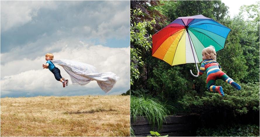 10 Karya fotografi bayi terbang, konsep unik abadikan momen si kecil