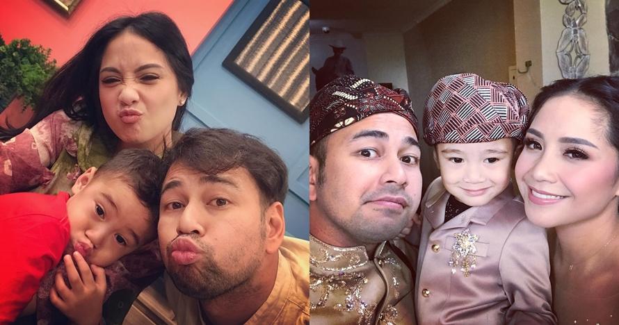 6 Momen Raffi Ahmad dan Rafathar mandi bareng, kompak banget