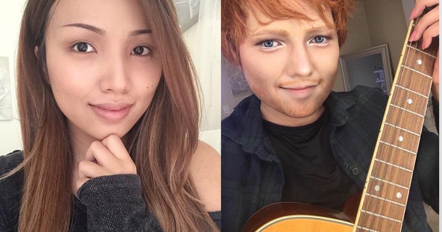7 Transformasi makeup wanita ini 11-12 sama wajah seleb Hollywood