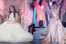 Anggun bak princess, ini 10 Gaya Putri D'Academy saat pakai long dress