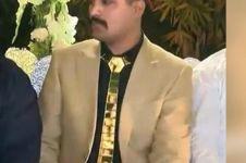 Menikah, pria ini kenakan emas dari ujung kepala hingga ujung kaki